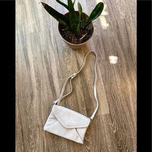 Anthropologie gray crossbody purse